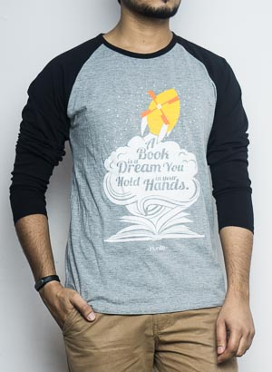 Readers Full Sleeves Raglan | Men | Black Grey
