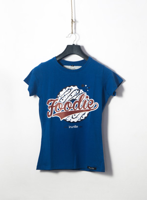 Foodie Half Sleeves Round Neck T-shirt | Women | Royal Blue