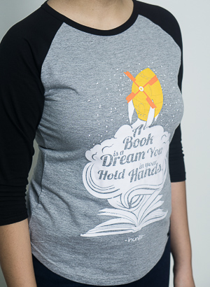 Readers 3/4th Sleeves Raglan | Women | Black Grey